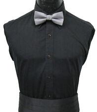 Men's Black Dress Shirt Laydown Collar Tuxedo Wedding Prom Mason Formal Cheap