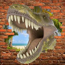 Adesivo parete inganna l'occhio dinosauro Tyrex ref 863