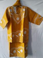African Clothing Kids Children Girls Skirt Suit Mustard Size 3/4,7/8,10/12