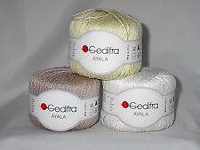 Gedifra Ayala Linen Blend Italian Yarn Your Color Choice Loom Knit Crochet FS