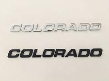 COLORADO Black/Chrome 3D Emblem Badge Letter Chevrolet Car Truck Hood Trunk