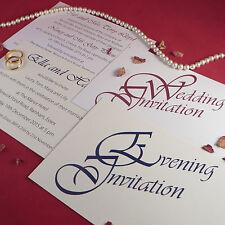 Personalised Wedding Invitations Wedding Day Evening Reception Invites Elegance