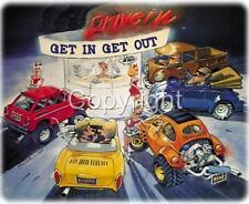 Bug, Baja & Bus Drive-In Cartoon Dave Deal T-Shirt #4109 vw automotive art
