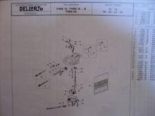 catalogo RICAMBI 1994 CARBURATORE dellorto PIAGGIO VESPA moto DEPLIANT ESPLOSO
