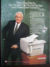 "1993 Sharp Copier Ad-8.5 x 10.5""-Bill Walsh-49ers Coach"