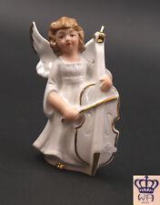 Porzellan Figur Wagner & Apel Engel mit Kontrabass Weihnachten H13cm 9942159