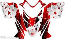 Polaris IQ RMK Shift Dragon Graphics Decal Sticker Kit 2005 - 2012 Stars Red