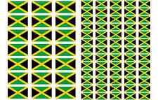Jamaica Flag Stickers rectangular 21 or 65 per sheet