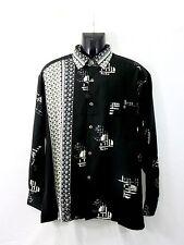 Men's Fashion Shirt in Black and White Pattern