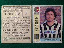 CALCIATORI 1981-82 81-1982 n 9 ASCOLI GRECO , Figurina Panini con velina