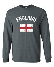 443 England Long Sleeve shirt Flag British futbol united Kingdom rugby sports