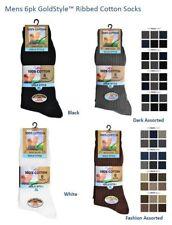 3 / 6 / 12 Pairs of Men's Executive Dress Socks Premium 100% Cotton Size UK 6-11