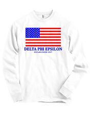Delta Phi Epsilon USA Flag Bella + Canvas Long Sleeve T Shirt NEW