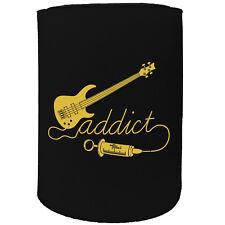 Stubby Holder - Bass Addict Guitar Bass Eletric - Funny Novelty Birthday Gift
