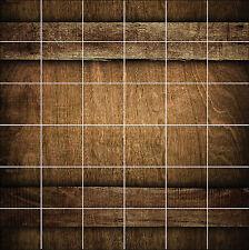 Adesivi piastrelle parete, maiolica,decocrazione cucina o bagno Legno réf1890
