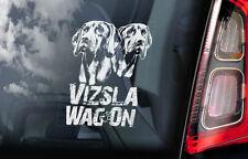 Vizsla Wag'On - Car Window Sticker - Hungarian Pointer Dog on Board Decal - V03