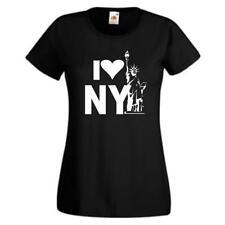 I love New York, Sprüche T-Shirt, Damen Funshirt, lustige girls t-shirts (GO181)