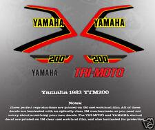 YAMAHA YTM200 1983 TRI-MOTO DECAL GRAPHIC KIT LIKE NOS