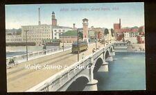 1914 View Trollies on Stone Bridge Grand Rapids MI A6701