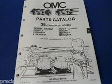 1990, 25 Commercial Models OMC Evinrude Johnson Parts Catalog