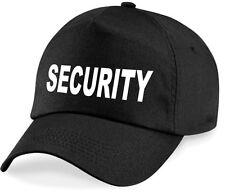 Security Basecap Türsteher Mütze Ordner Sicherheitsdienst Cappy Hut schwarz neu