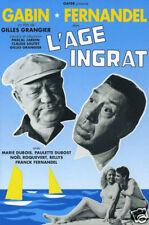 L'age ingrat Fernandel 1964 vintage movie poster