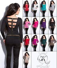 Sexy Koucla Pullover Longpullover Sweater mit Zip