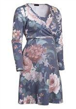 Damenkleid Umstandsmode Umstandskleid Blumenkleid Schwangerschafts Kleid Blau