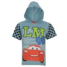 Disney Cars Con Capucha De Manga Corta Camiseta para niños rrp £ 9.99 - Nuevo