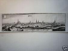 Geithan Sachsen echter  alter  Merian Kupferstich 1645