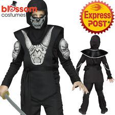 CK1291 Black Demon Ninja Boy Costume Japanese Fighter Warrior Martial Book Week
