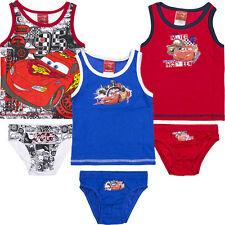 Ropa Interior 2 piezas Juego Chicos Rojo Camisa SLIP Disney Cars 92-98 104-110