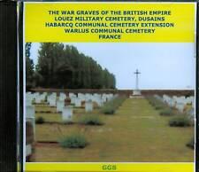 WAR GRAVES OF  LOUEZ, HABARCQ & WARLUS WW1 CD ROM