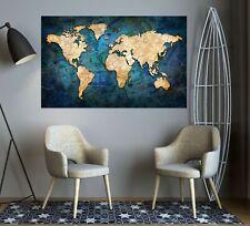 3D Retro Dollars B250 World Map Wall Stickers Vinyl Wallpaper Murals Amy