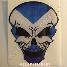 Sticker Flag Scotland Skull Adhesive Decal Resin Domed Car Moto Tablet Laptop 3D