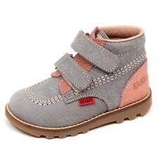 E2250 sneaker bimba rosa/grigio KICKERS RACE scarpe boot shoe kid baby girl