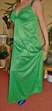 Emerald Green Silky Lacy & Shiny Full Length Bra Slip or Nightgown L-XL BNWT