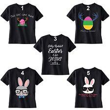 Kid's Easter T-shirt Bunny Rabbit Egg Hunt Jesus Shirt Peep Spring Toddler Youth
