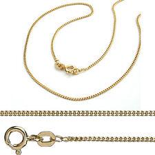 Juwelier Flach Panzerkette Stärke 1,2 mm aus Echt Silber 925 vergoldet Gelb Gold
