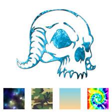 Monster Demon Skull Horn - Decal Sticker - Multiple Patterns & Sizes - ebn1047