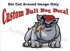 Bull Dog Decal Sticker Mack Dump Truck WiseDog w Cigar