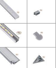 Anodisé Aluminium Profile incl. Couverture pour LED bandes/rayures/rayures
