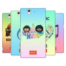 UFFICIALE Emoji musica HARD BACK CASE per SONY telefoni 3