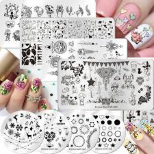NICOLE DIARY Nail Stamping Plates Nail Art Stamp Template Nail Art  DIY
