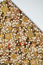 "CLASSIC 44"" JAPANESE KIMONO FOILED COTTON CALICO FABRIC: FULL BLOSSOM SAKURA"