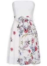 B16065369 Damen Violet Kleid Mini Bandeau Bindeband Blumen Brustpads weiss