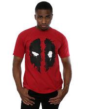 Officiel Marvel Homme Deadpool Splat Face T-shirt rouge brique