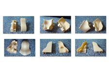 Außenecke, Innenecke,Verbinder, oder Endkappe, 40 mm Einfarbig Farbe Ahorn