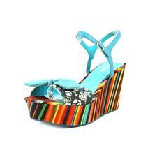 Desigual Meg 1 Sandals Wedges 38-41 UK 5-7 RRP�114 Rainbow Stripe Canvas Leather