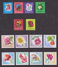 Albania Sc 862/1024 MLH. 1965-67 Flowers, 2 cplt sets